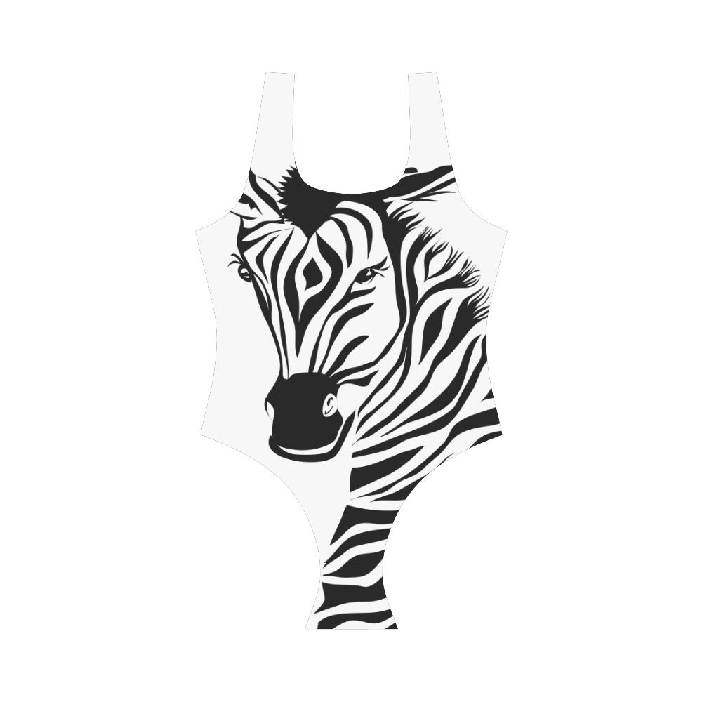 Funky Zebra Vest One Piece Swimsuit (Model S04)