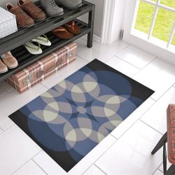 "circles Azalea Doormat 30"" x 18"" (Sponge Material)"