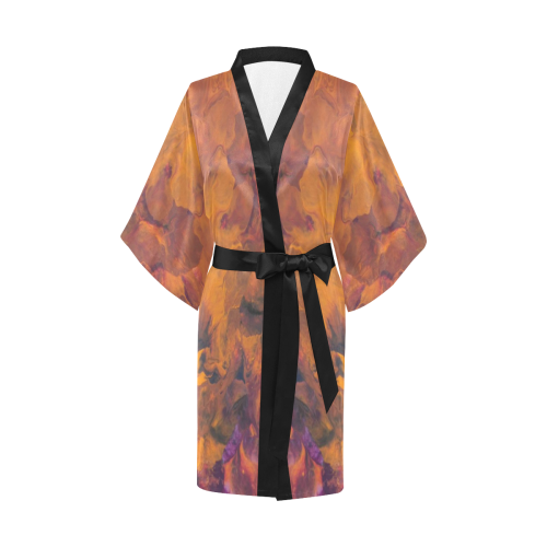 Sunset Flowers Kimono Robe