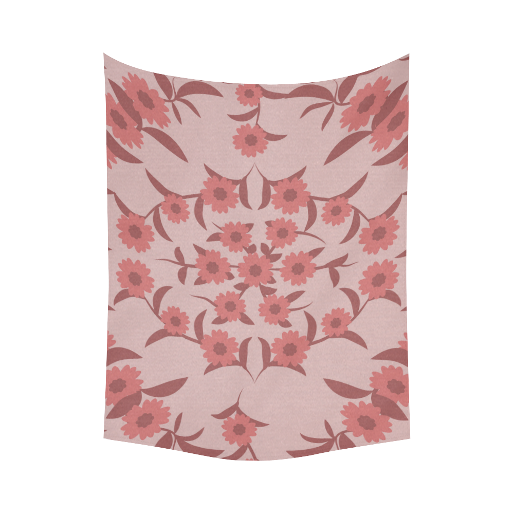 """floral damask Cotton Linen Wall Tapestry 60""""x 80"""""""