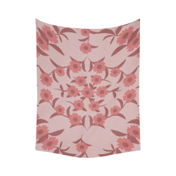 "floral damask Cotton Linen Wall Tapestry 60""x 80"""