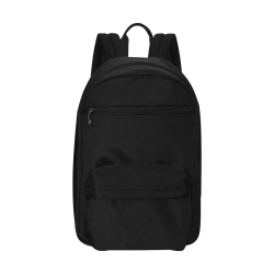 Simply Solid Collection - Black - Large Capacity Travel Backpack (Model 1691)