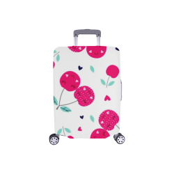 """Pink Smiley Cherries Luggage Cover Luggage Cover/Small 18""""-21"""""""