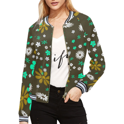 FLORAL DESIGN 12 All Over Print Bomber Jacket for Women (Model H21)