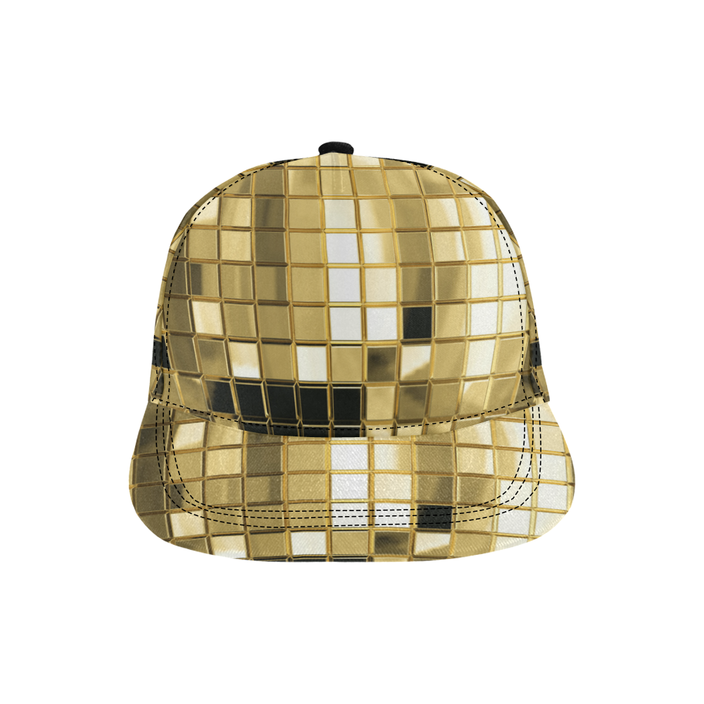Disco Bling All Over Print Snapback Hat D
