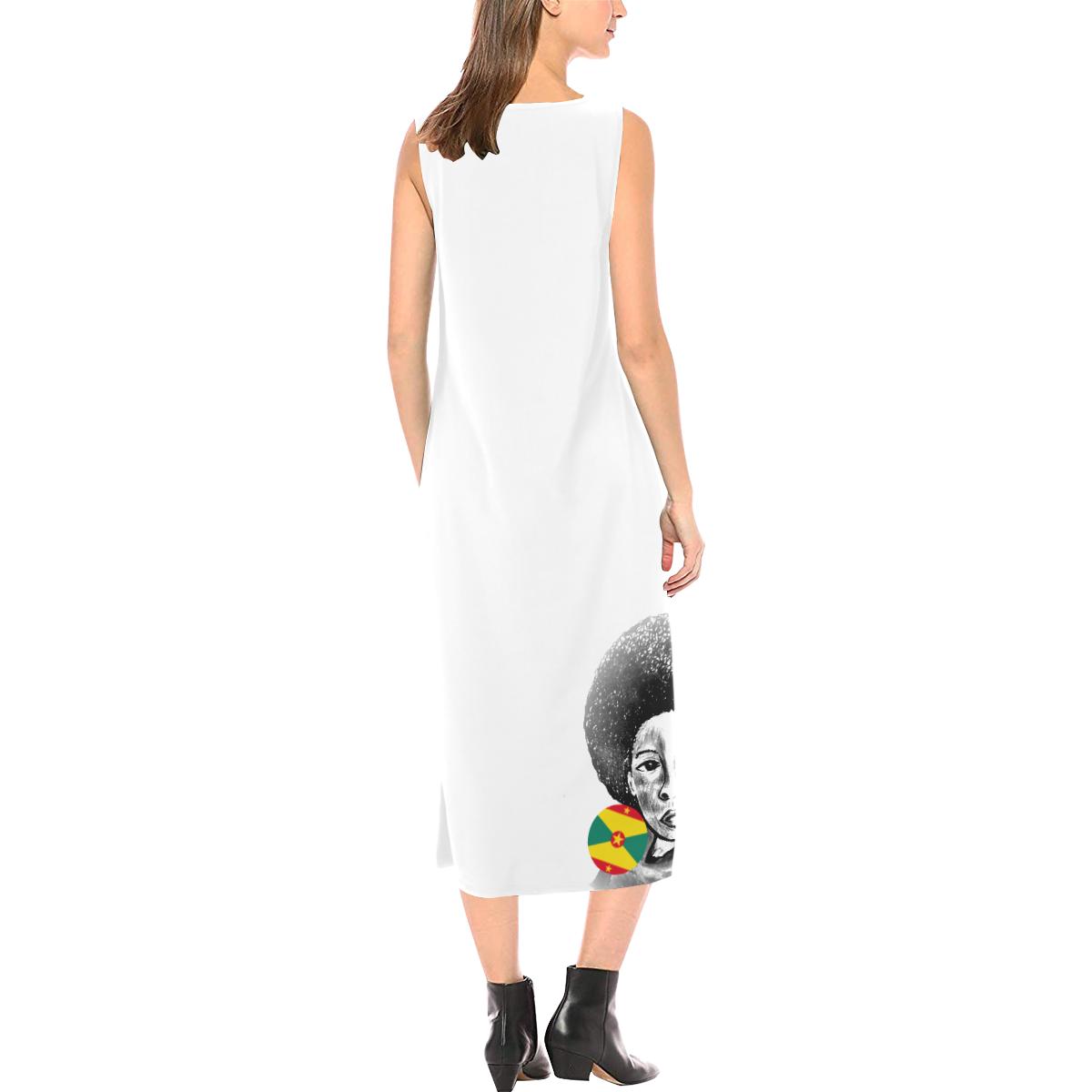 manusartgnd Phaedra Sleeveless Open Fork Long Dress (Model D08)