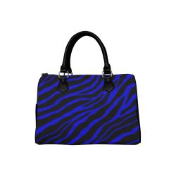 Ripped SpaceTime Stripes - Blue Boston Handbag (Model 1621)