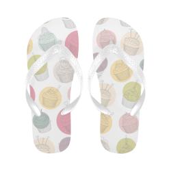 Colorful Cupcakes Flip Flops for Men/Women (Model 040)
