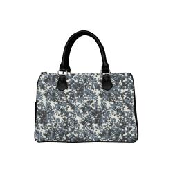 Urban City Black/Gray Digital Camouflage Boston Handbag (Model 1621)