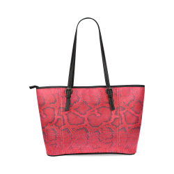 SNAKE LEATHER 6 Leather Tote Bag/Large (Model 1640)