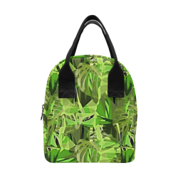 Tropical Jungle Leaves Camouflage Zipper Lunch Bag (Model 1689)