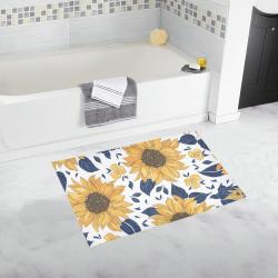 "Sunflowers Bath Mat 20""X32"" Bath Rug 20''x 32''"