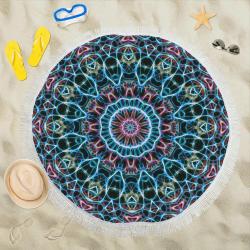 """Freezing mandala Circular Beach Shawl 59""""x 59"""""""