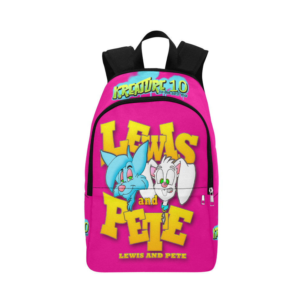 Lewis and pete pink bag Fabric Backpack for Adult (Model 1659)