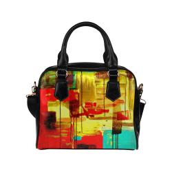 Acrylic Abstract Shoulder Handbag (Model 1634)