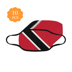 Trinidad and Tobago flag Mouth Mask (Pack of 10)