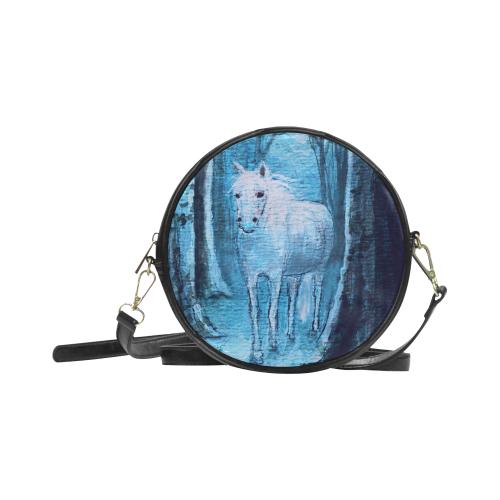 Midsummer Dream Horse Round Sling Bag (Model 1647)