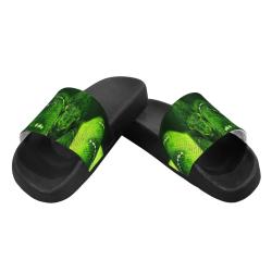 GREEN SNAKE Women's Slide Sandals (Model 057)
