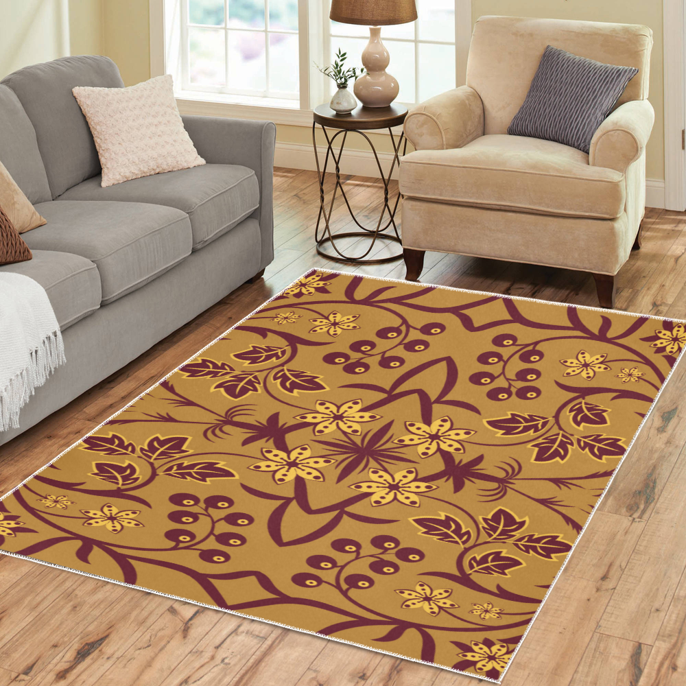 Wild berry Area Rug7'x5'