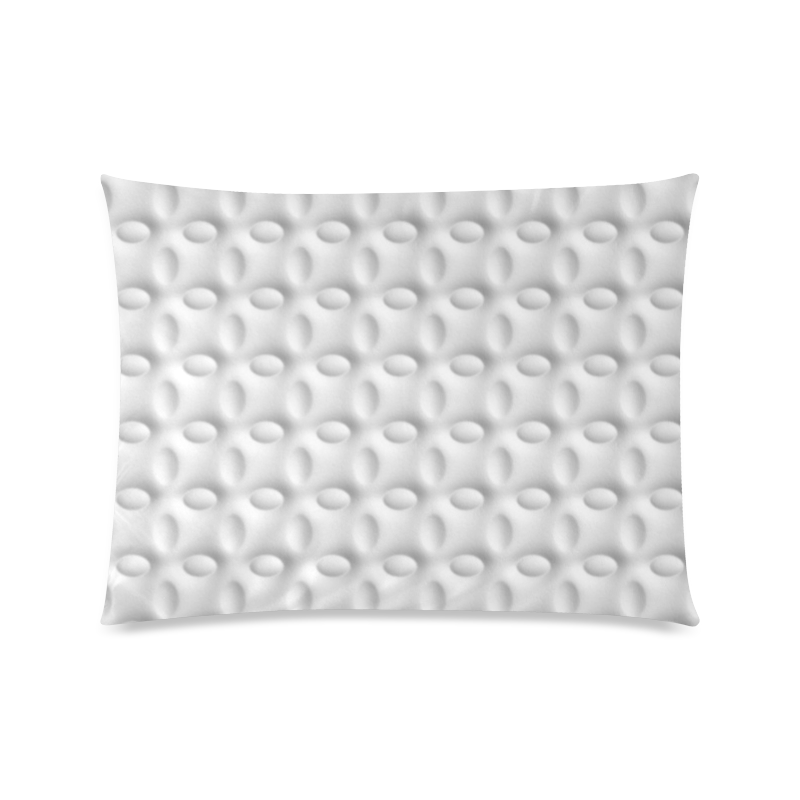 """White ellipses embossed abstract Custom Picture Pillow Case 20""""x26"""" (one side)"""