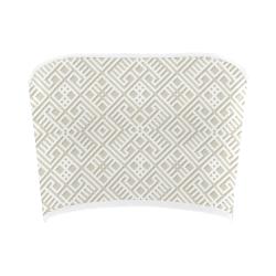 White 3D Geometric Pattern Bandeau Top