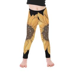 LG Sunflower Kid's Ankle Length Leggings (Model L06)