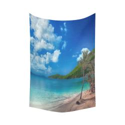 "Beach Escape Cotton Linen Wall Tapestry 60""x 90"""