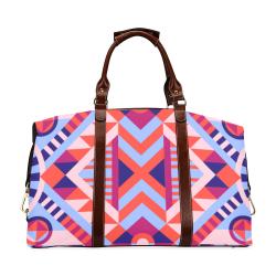 Modern Geometric Pattern Classic Travel Bag (Model 1643) Remake