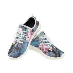Cherry blossomL Grus Women's Breathable Woven Running Shoes (Model 022)