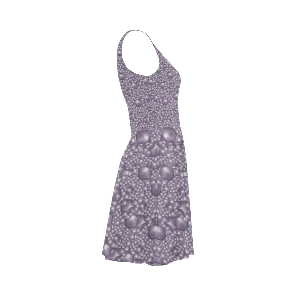 festive purple pearls Atalanta Sundress (Model D04)