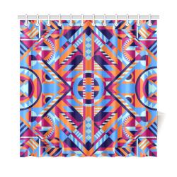 "Modern Geometric Pattern Shower Curtain 72""x72"""