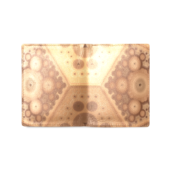 3-D Fractal in Earth Tones Men's Leather Wallet (Model 1612)