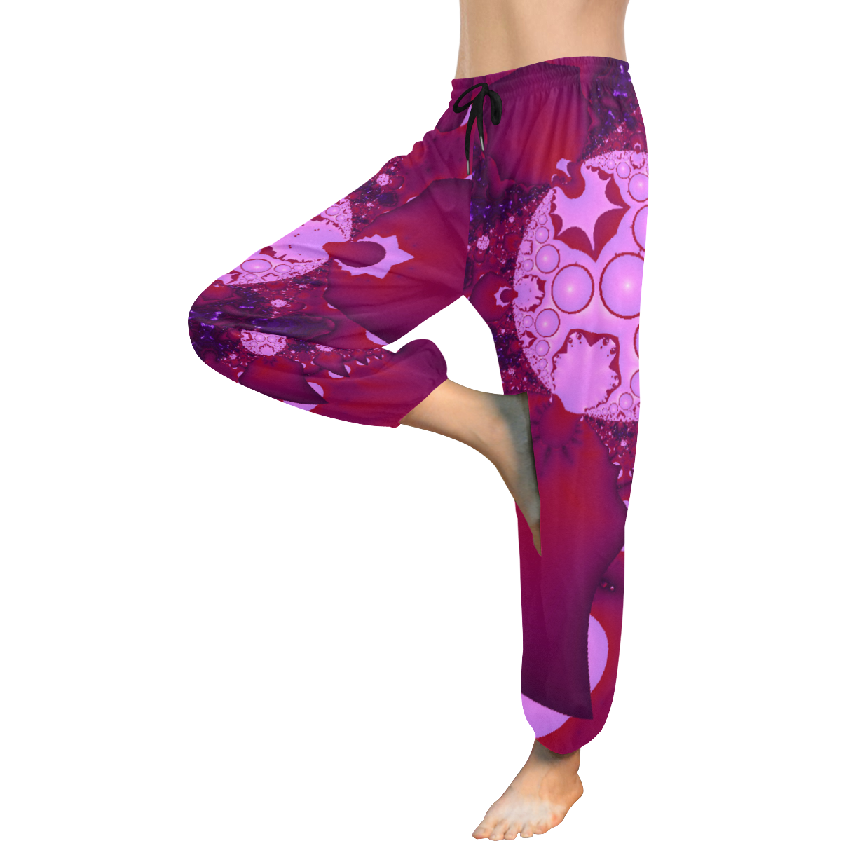 Planetary Bubble Gum Women's All Over Print Harem Pants (Model L18)