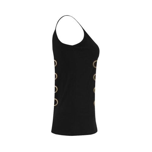 Gold Chain Print Women's Spaghetti Top (USA Size) (Model T34)