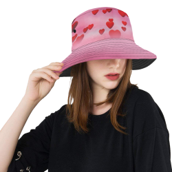 lovely romantic sky heart pattern for valentines day, mothers day, birthday, marriage All Over Print Bucket Hat