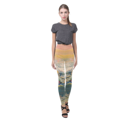 Mountains painting Cassandra Women's Leggings (Model L01)