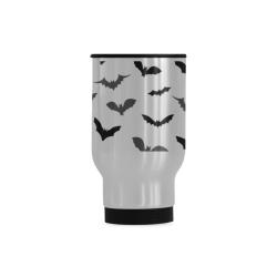 Bats Pattern Travel Mug (Silver) (14 Oz)