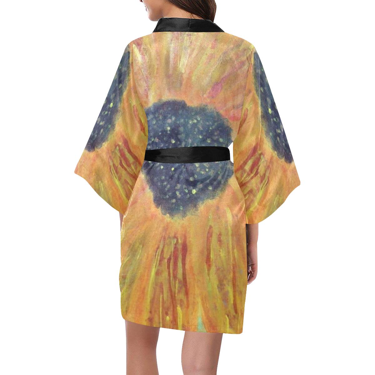 Gerbera Daisy Kimono Robe