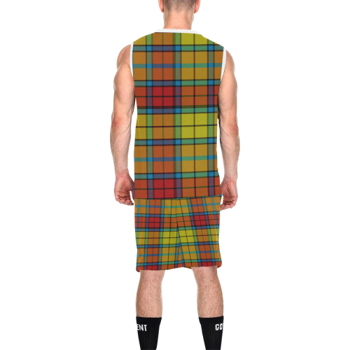 BUCHANAN TARTAN All Over Print Basketball Uniform