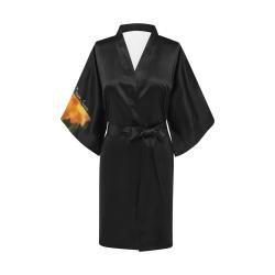 Glowing Orange Blossoms #LoveDreamInspireCo Kimono Robe