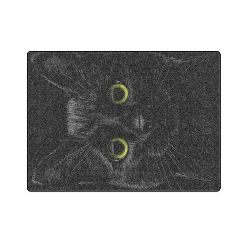 """Black Cat Blanket 58""""x80"""""""