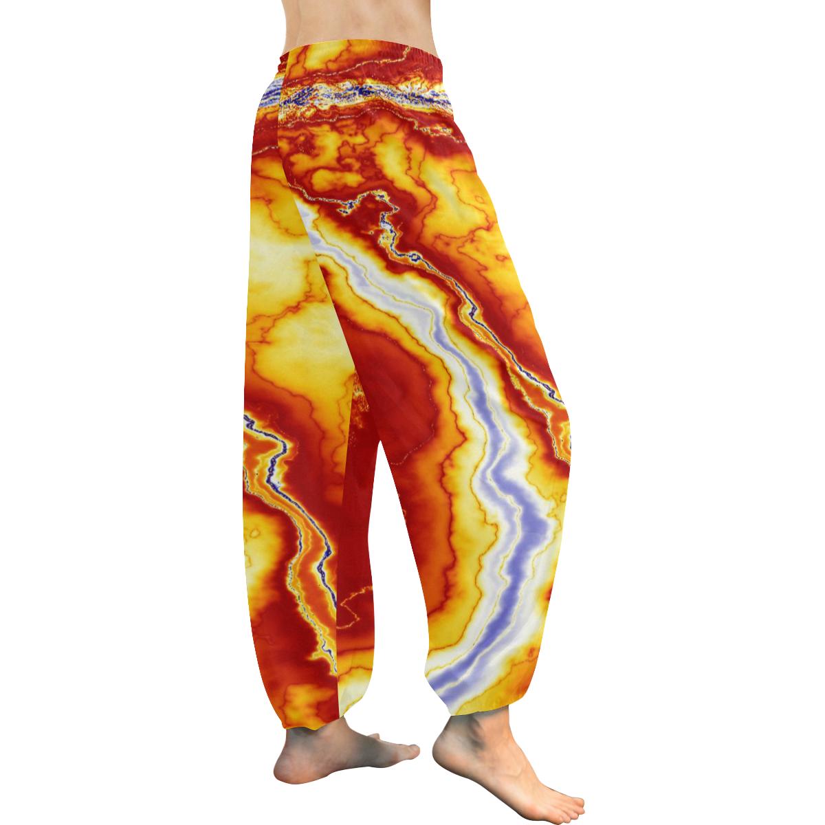 Marble Geode Women's All Over Print Harem Pants (Model L18)