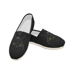 Black Cat Unisex Casual Shoes (Model 004)