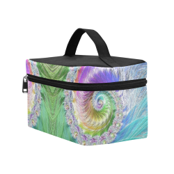 Frax Fractal Rainbow Cosmetic Bag/Large (Model 1658)