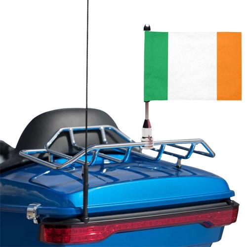 Ireland Motorcycle Flag (Twin Sides)