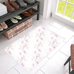 """Pattern Orchidées Azalea Doormat 30"""" x 18"""" (Sponge Material)"""