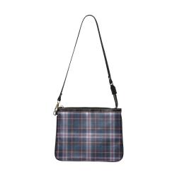 stripe blue pink Small Shoulder Bag (Model 1710)