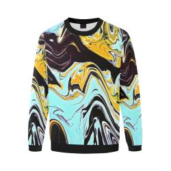 oil_d Men's Oversized Fleece Crew Sweatshirt/Large Size(Model H18)