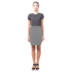 Dark Gray Pencil Skirt (solid color) Nemesis Skirt (Model D02)