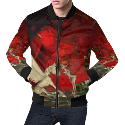 Cute little fairy and pegasus All Over Print Bomber Jacket for Men (Model H19)